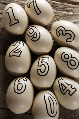 Number Eggs 2in (Pack of 10)