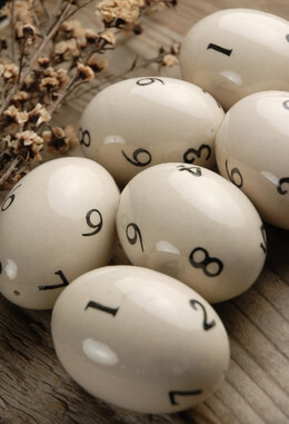 Ceramic Eggs with Numbers (6 eggs)