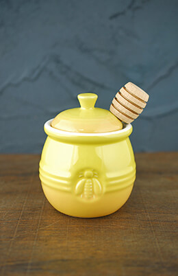 Ceramic Honey Jar 4.25in