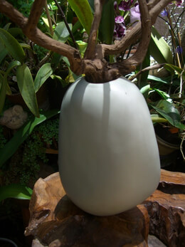 "Ceramic Rock Vase 8.5 "" Sage Green Akasha"