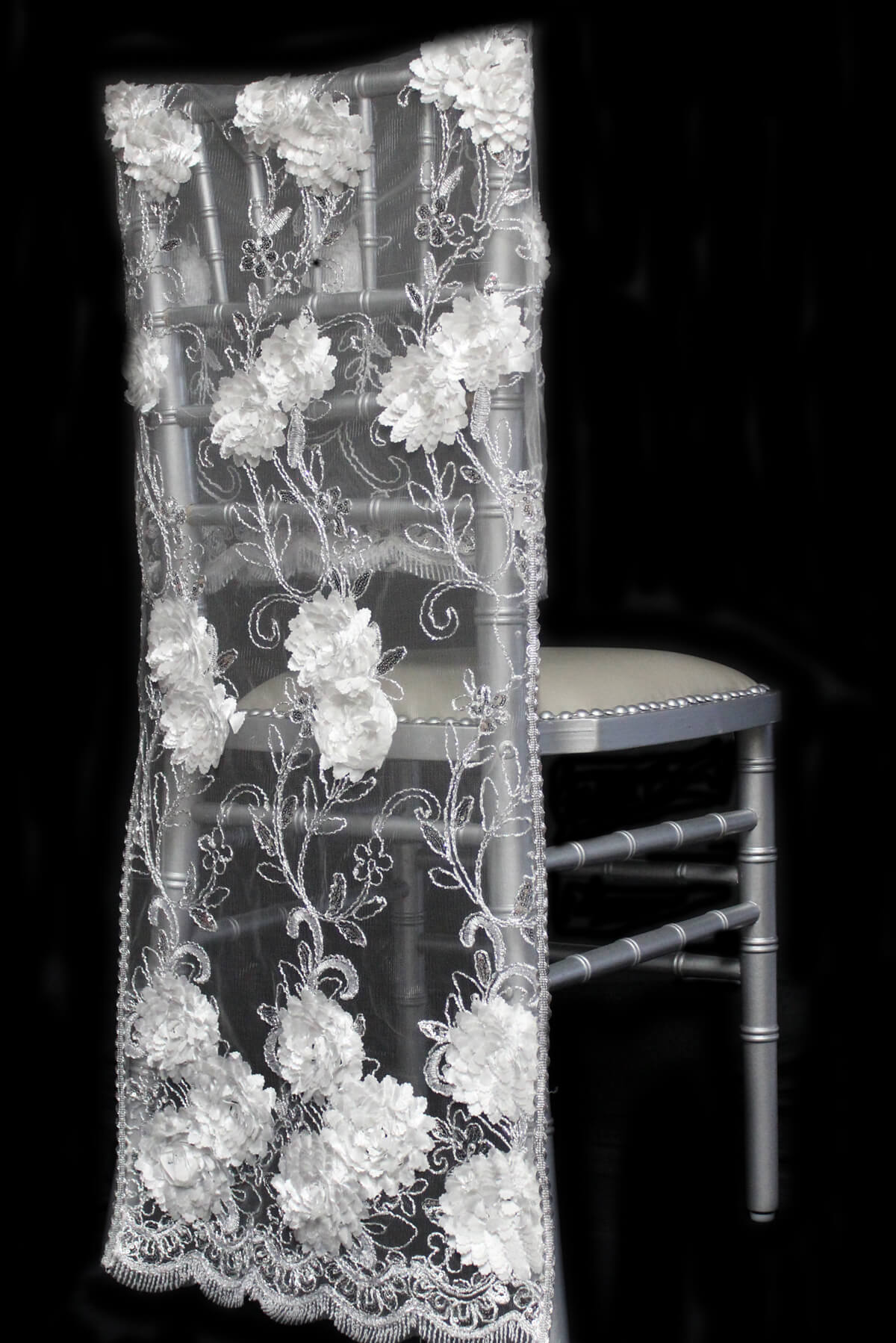 Chiavari Chair Covers - White Floral