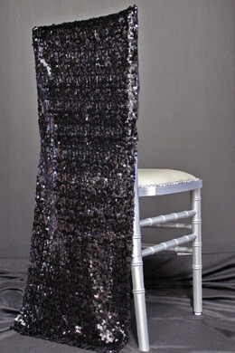 Chiavari Chair Covers -Black Sequins