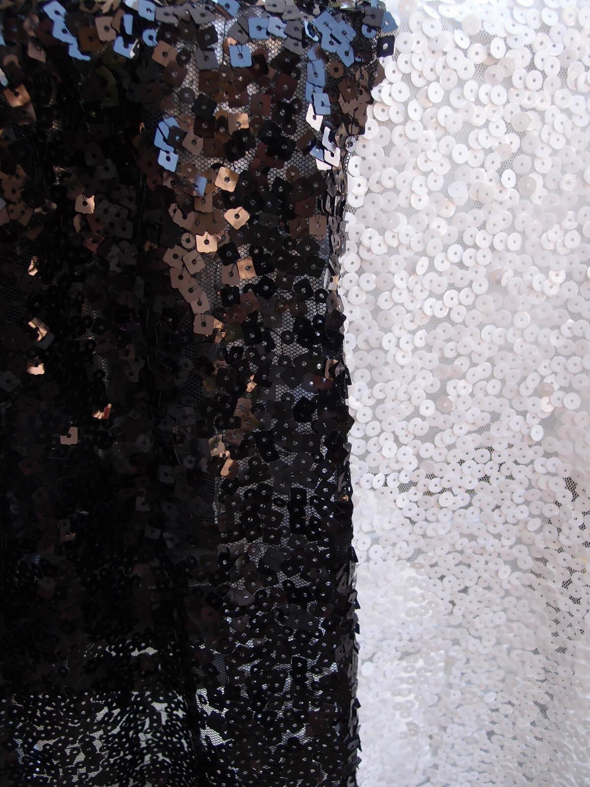 Chiavari Chair Covers -Black Sequins