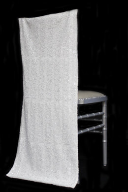 Chiavari Chair Covers -White Sequins