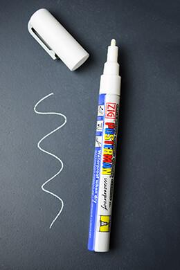 Chalk Marker 1.0 Fine Tip White