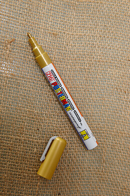 Chalk Marker Gold 1.0mm