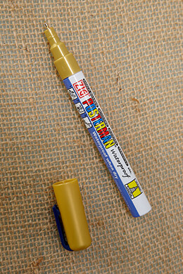 Chalk Marker Gold 0.5mm