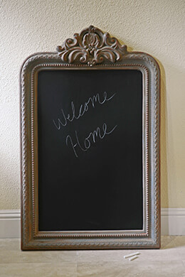 Vintage Framed Chalkboard 40in