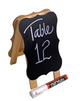 "8"" Wood Chalkboard and Whiteboard Easel"