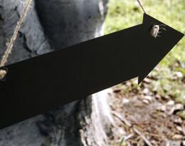 Chalkboard Arrow 15in Hanging