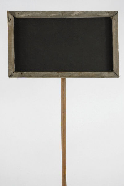 "15"" Wood Framed Blackboard on Wood Stake"