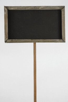 "15"" Wood Framed Chalkboard on Wood Stake"
