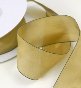 Silky Champagne Ribbon 1.5in x 25 yards
