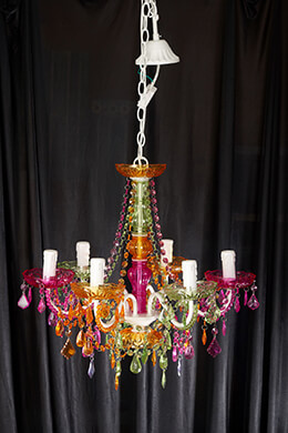 Chandelier Multi-color 20in