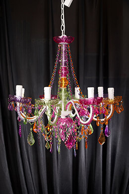 Chandelier Multi-color 22in