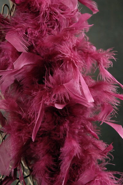 Chandelle Feather Boas Burgundy Feathers 50 gram