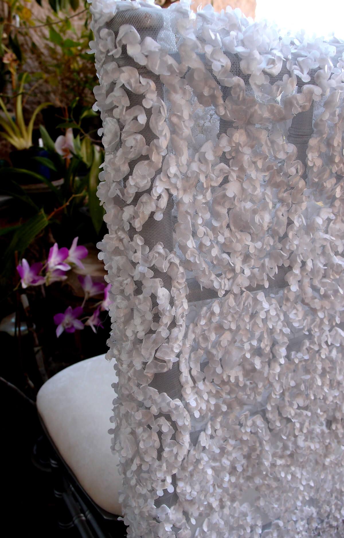 Chiavari Chair Sleeves -White Swirls