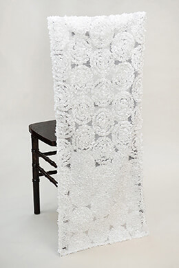 Chiavari Chair Sleeves -White Swirls