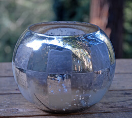 Checkerboard Bubble Bowl Vase 5in