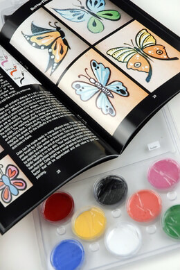 Cheek Face Painting Kit 8 colors & instruction book.