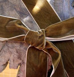 """Chocolate Velvet Ribbon 1-1/2"""" width"""