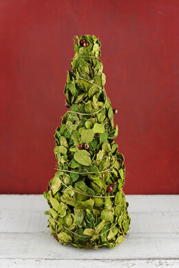 "Preserved Holly 16"" Christmas Tree"