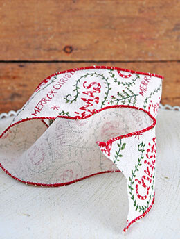 Christmas Ribbon 2.5in x 24ft