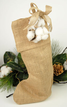 Burlap Christmas Stocking 10