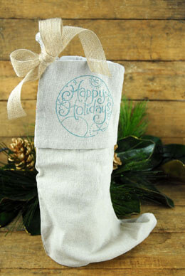 "Christmas Stocking Gift Bags 10"" x 16"" (Set of 6)"