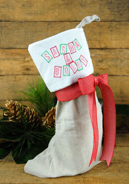 Christmas Stocking Linen 10
