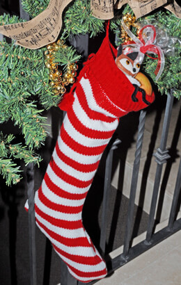 Christmas Stocking Striped 22.5in
