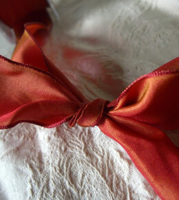 Taffeta Ribbon Wired Cinnabar 1.5in