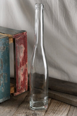 Long Neck Clear Glass Bottle