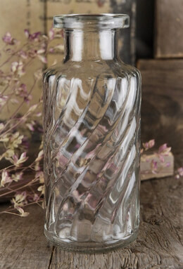 Glass Bottle Swirl 5.5in