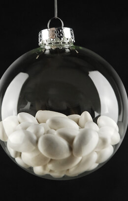 2 Large 4in Clear Glass Ornament Balls 100mm