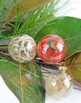 "Clear Glass Ornament Balls with Gold Tops 50mm/2"" size (Pack of 10)"