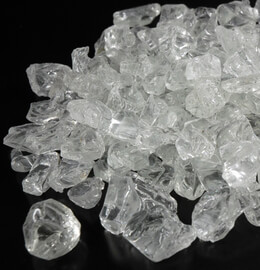 Clear Glass Rocks 8lb