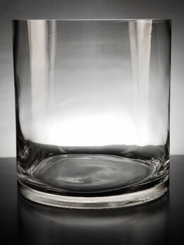 Clear Glass Cylinder Vase 9 x 10