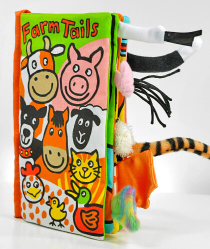 Cloth Baby Books Farm Tails Book by JellyCat