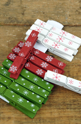 """12 Holiday 3"""" Painted Clothespins"""