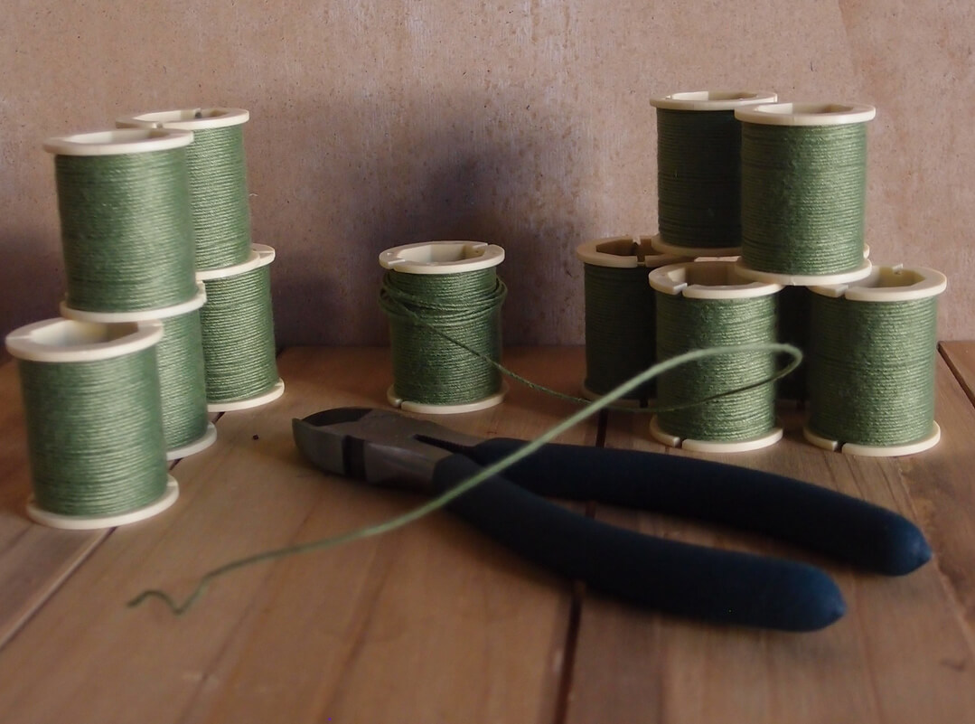 12 Panacea Cloth Covered Spool Wire 32 Gauge - 30 FT  Green