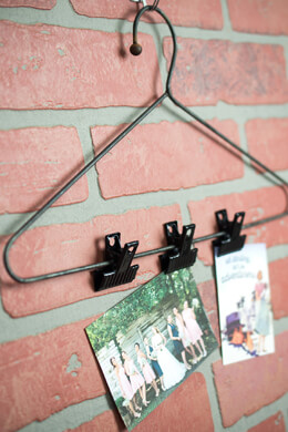 Iron Coat Hanger with Three Clips