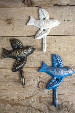 Coat Hooks Set of 3 Iron Bird Hooks