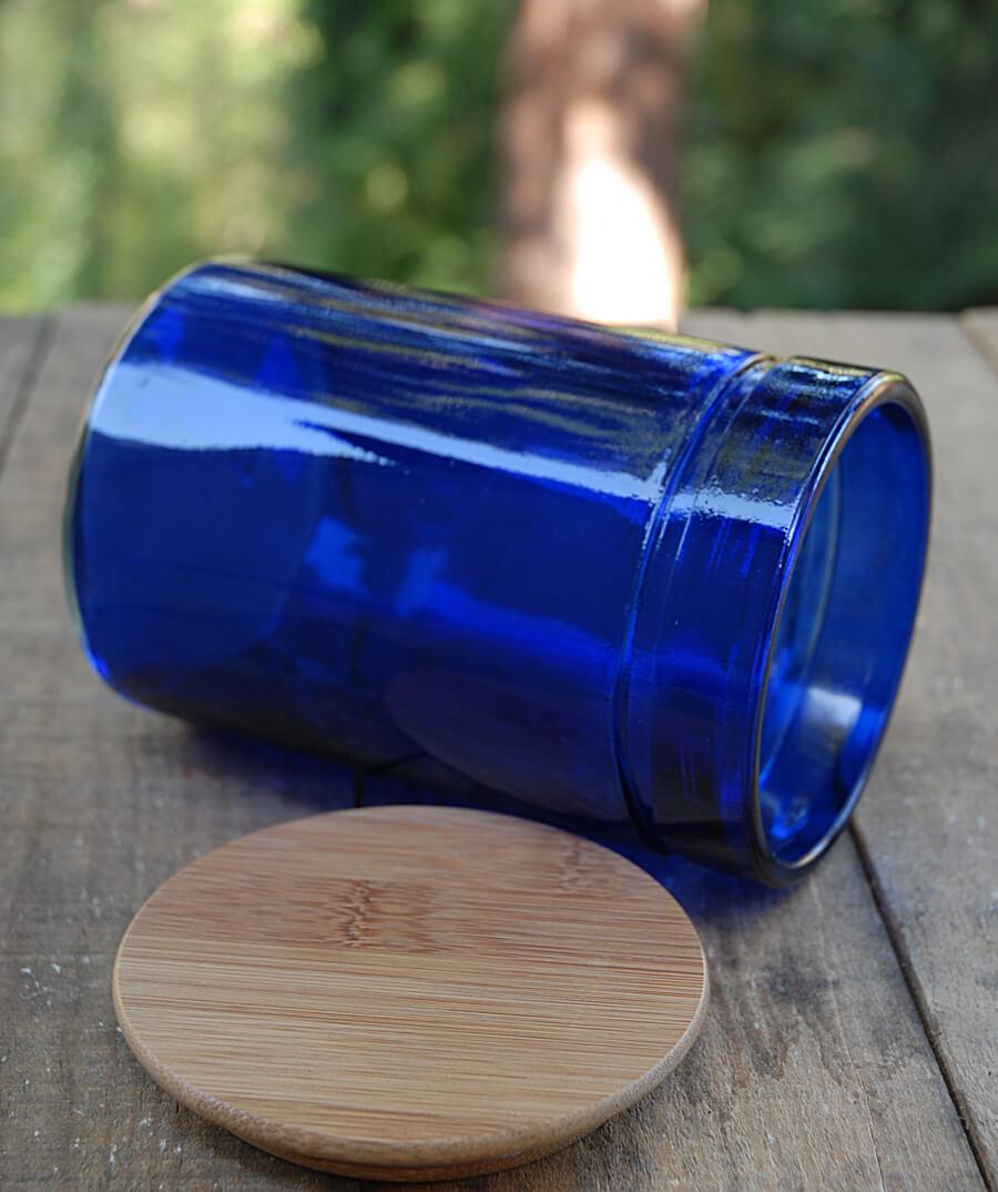 Cobalt Blue Cylinder Vase 5in