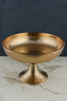 Copper Metal Compote 8.5in