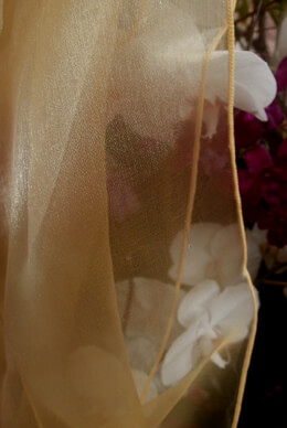 """Copper Organza Chair Sashes 9"""" Wide  Pack of 10"""