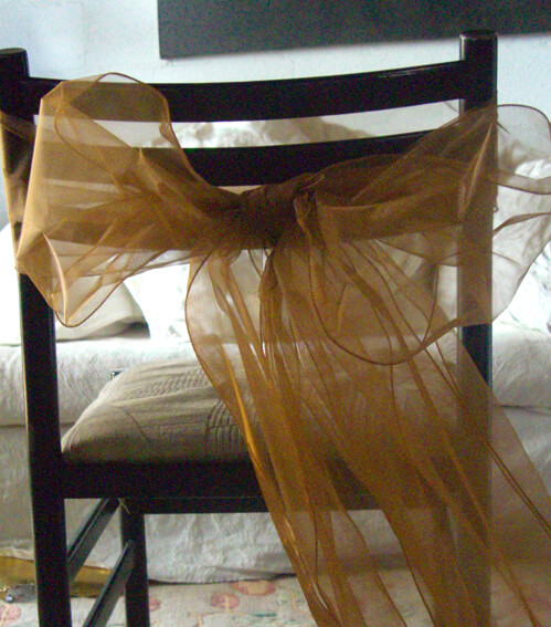 "Copper Organza Chair Sashes 9"" Wide  Pack of 10"