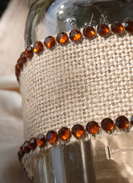 Copper Rhinestone Lines Adhesive Acrylic (12 lines/ 420 rhinestones)