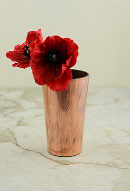 Copper Vase 2.75x4.75in