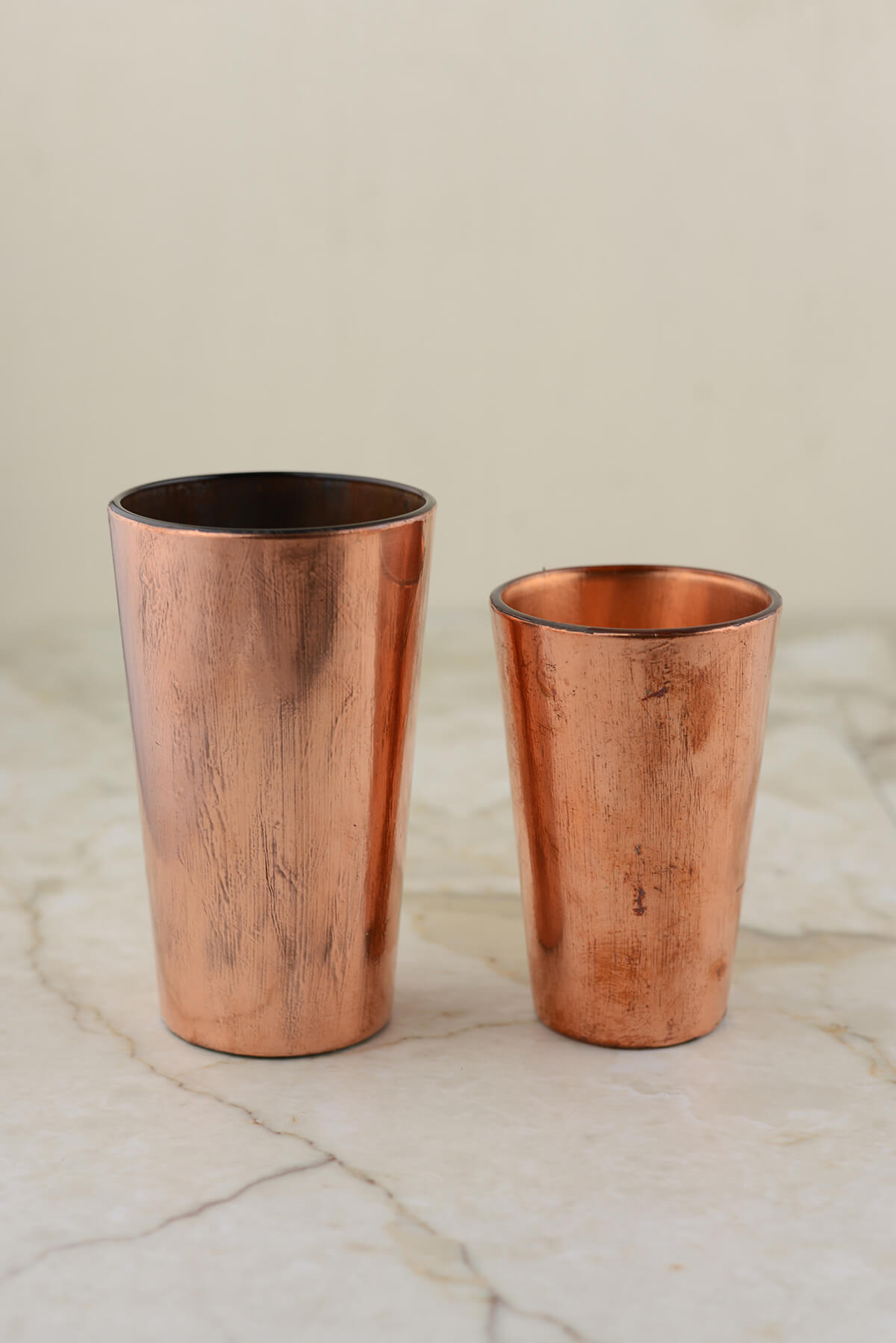 "Vivi 4.75"" Copper Vase & Votive Holders"